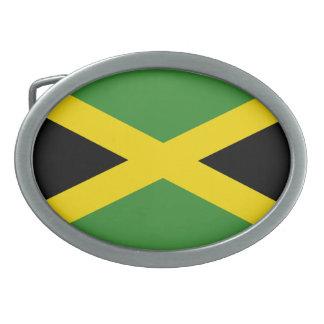 Hebilla del cinturón de la bandera de Jamaica Hebillas Cinturón Ovales