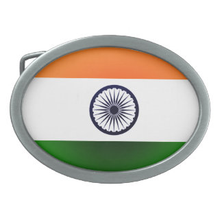 Hebilla del cinturón de la bandera de la India Hebilla Cinturon Oval