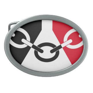 Hebilla del cinturón de la bandera de País Negro Hebillas De Cinturon Ovales