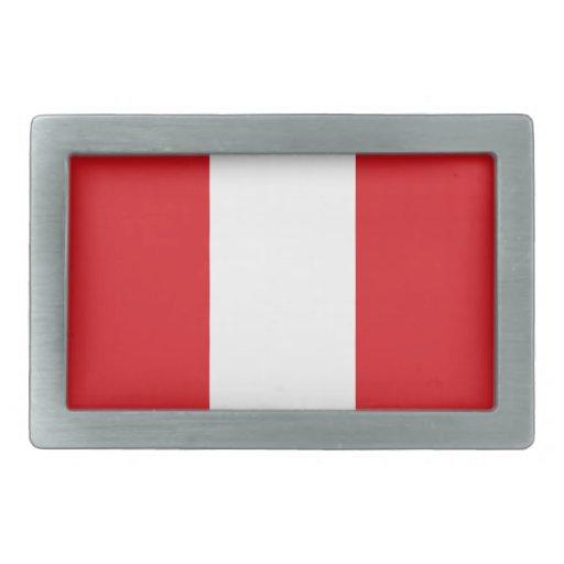 Hebilla del cinturón de la bandera de Perú Hebillas Cinturón Rectangulares