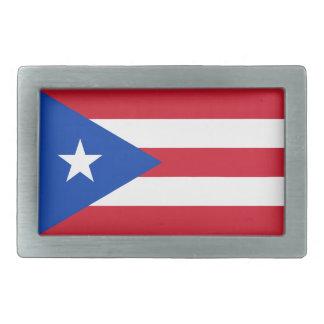 Hebilla del cinturón de la bandera de Puerto Rico Hebilla Cinturón Rectangular