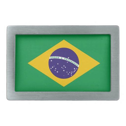 Hebilla del cinturón de la bandera del Brasil Hebilla De Cinturon Rectangular