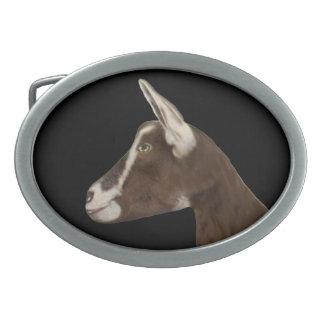 Hebilla del cinturón de la cabra   de la lechería hebillas de cinturón ovales