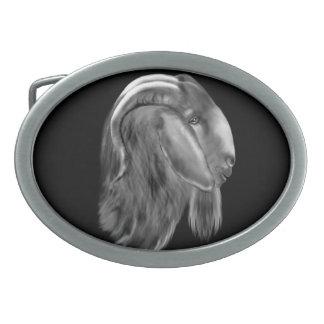 Hebilla del cinturón de la cabra del Boer Hebilla De Cinturon Oval