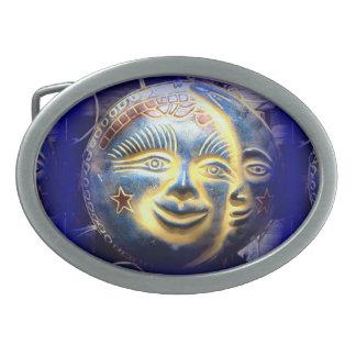 hebilla del cinturón de la cara de luna de la cara hebillas cinturón ovales