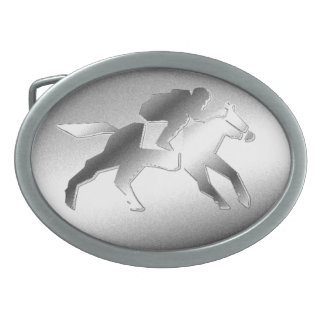 Hebilla del cinturón de la carrera de caballos hebillas cinturón ovales