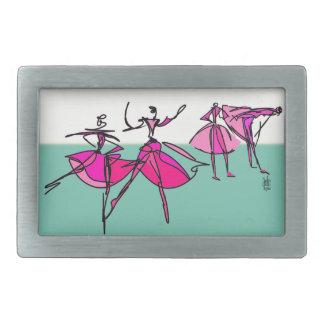 Hebilla del cinturón de la clase del ballet hebillas cinturon rectangulares