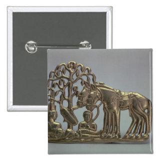 Hebilla del cinturón, de la colección siberiana de pin cuadrada 5 cm