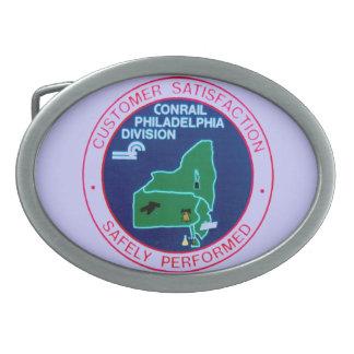 Hebilla del cinturón de la división de Conrail Hebillas De Cinturon Ovales