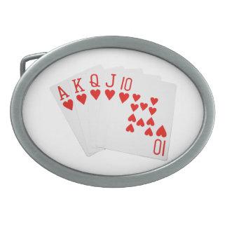 Hebilla del cinturón de la escalera real del póker hebillas cinturón