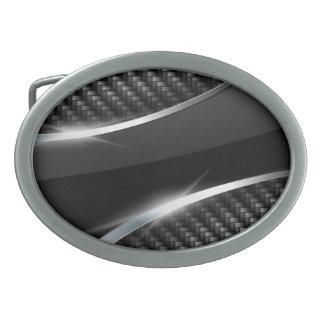 Hebilla del cinturón de la fibra de carbono 3 hebilla cinturón oval