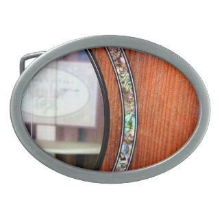 Hebilla del cinturón de la guitarra acústica hebillas de cinturon ovales