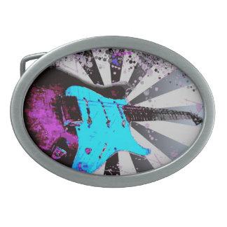 Hebilla del cinturón de la guitarra eléctrica hebilla de cinturón oval