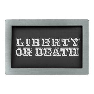 Hebilla del cinturón de la libertad o de la muerte hebilla cinturón rectangular