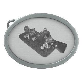 Hebilla del cinturón de la llave del código Morse  Hebilla Cinturón Oval