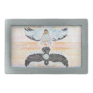 Hebilla del cinturón de la mujer del cuervo hebillas cinturón rectangulares