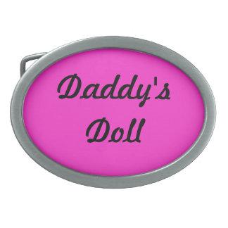 Hebilla del cinturón de la muñeca del papá hebilla cinturón oval