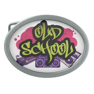 Hebilla del cinturón de la pintada de la escuela hebillas de cinturon ovales