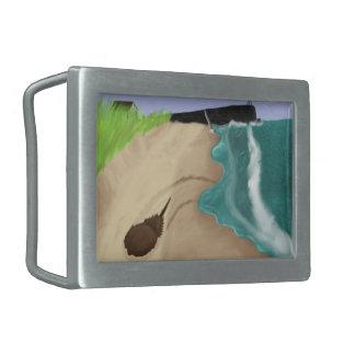 Hebilla del cinturón de la pintura de la playa hebillas cinturon rectangulares