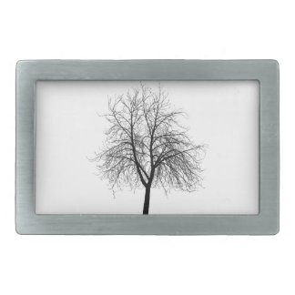 Hebilla del cinturón de la silueta del árbol hebilla cinturón rectangular