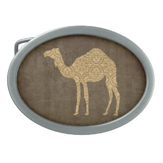 Hebilla del cinturón de la silueta del camello hebilla de cinturon oval