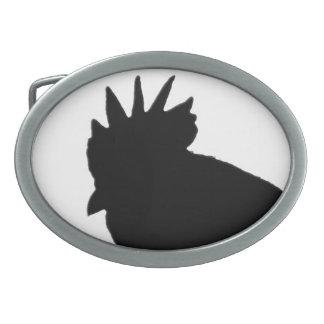 Hebilla del cinturón de la silueta del gallo hebilla de cinturón oval
