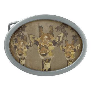 Hebilla del cinturón de las jirafas del damasco de hebilla cinturon