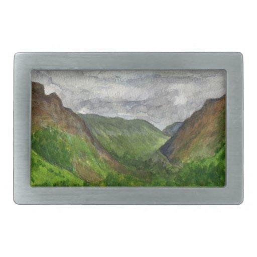 Hebilla del cinturón de las montañas de Snowdonia Hebillas De Cinturon Rectangulares