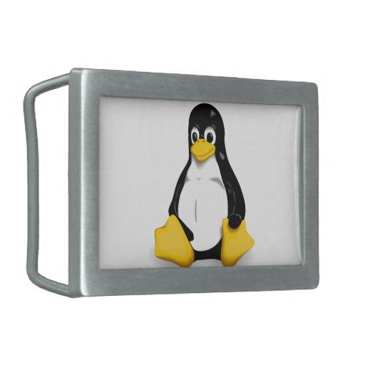 Hebilla del cinturón de Linux Tux Hebilla Cinturón Rectangular