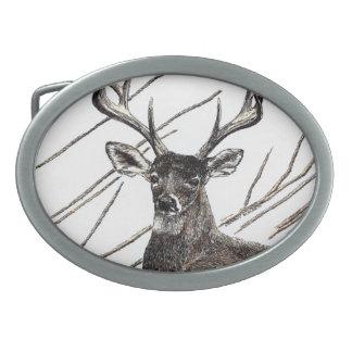 Hebilla del cinturón de los ciervos hebilla de cinturón oval
