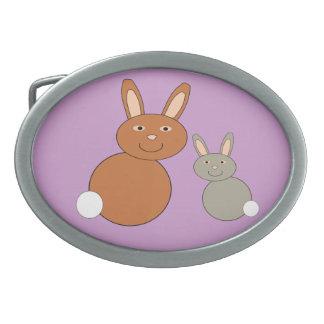 Hebilla del cinturón de los conejitos del día de m hebilla cinturón oval