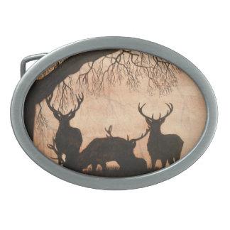 Hebilla del cinturón de los machos del ciervo comú hebillas cinturón