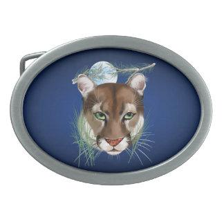 Hebilla del cinturón de medianoche del león de mon hebillas de cinturon