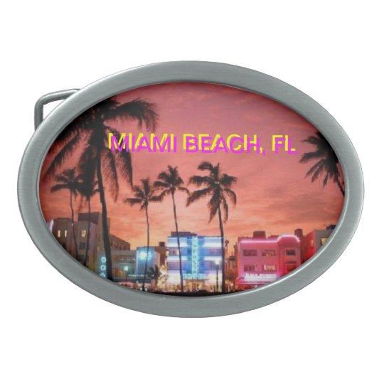 Hebilla del cinturón de Miami Beach la Florida Hebilla De Cinturón Oval
