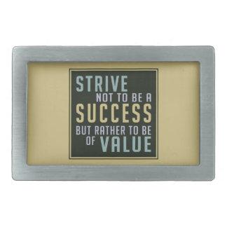 Hebilla del cinturón de motivación del éxito y del hebillas cinturon rectangulares