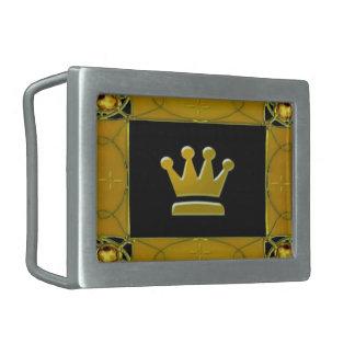 Hebilla del cinturón de oro de la corona hebilla de cinturón rectangular