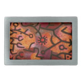 Hebilla del cinturón de Paul Klee Flora di Roccia Hebilla De Cinturón Rectangular