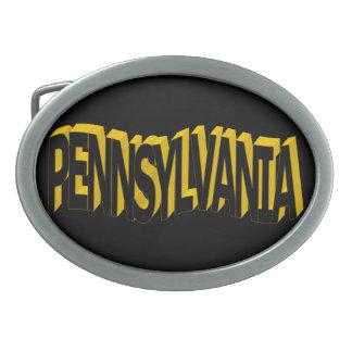 Hebilla del cinturón de Pennsylvania Hebilla Cinturon Oval