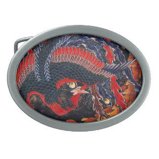 Hebilla del cinturón de Phoenix del japonés de Hok Hebillas De Cinturon Ovales