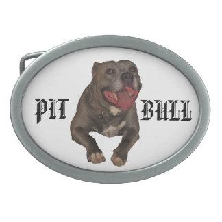 Hebilla del cinturón de Pitbull Hebilla Cinturon Oval