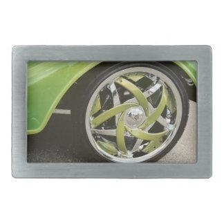Hebilla del cinturón de plata de los rayos verdes hebillas de cinturon rectangulares