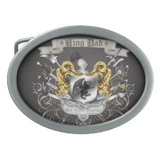 Hebilla del cinturón de rey Dad Royal Crest Black Hebillas Cinturón Ovales