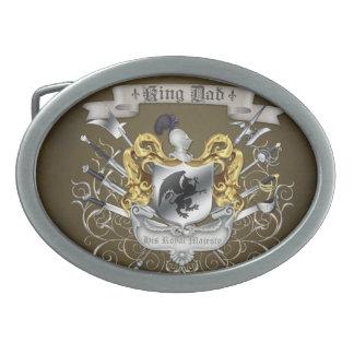 Hebilla del cinturón de rey Dad Royal Crest Brown Hebillas De Cinturon Ovales