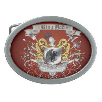 Hebilla del cinturón de rey Dad Royal Crest Orange Hebillas De Cinturón Ovales