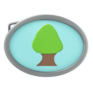 Hebilla del cinturón del árbol hebilla de cinturon oval