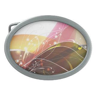 Hebilla del cinturón del arte abstracto 15 hebillas de cinturón ovales