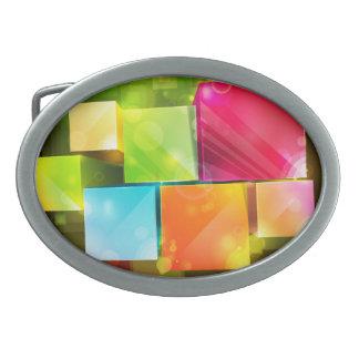 Hebilla del cinturón del arte abstracto 18 hebilla de cinturón oval