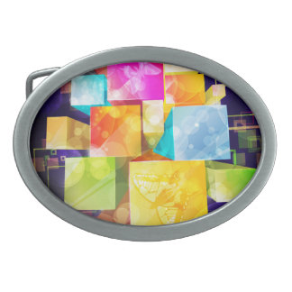 Hebilla del cinturón del arte abstracto 21 hebillas de cinturon