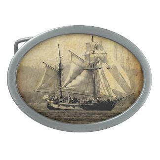 Hebilla del cinturón del barco pirata hebillas de cinturón ovales