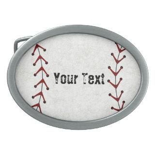 Hebilla del cinturón del béisbol hebillas cinturón ovales